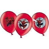 Amscan 999241 - 6 Latexballons Spider-Man, Durchmesser 27,5 cm, Dekoration, Superheld, Luftballon, Geburtstag, Themenparty