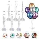 Ballonhalter, 6 Stück Ballon Stick Halter,Kunststoff Ballon StickHalter, Ballonstäbe mit Halterung,für Abschlussfeier / Hochzeitsball / Geburtstagsfeier