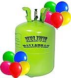 trendmile Premium Helium Ballongas - 2X Heliumflasche 100 Ballons