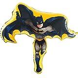 Ballonheld Folienballon Batman ca. 80x85cm heliumgeeignet lange Schwebezeit Kinderballons