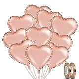 Nasharia Herz Folienballon Roségold 20 Stück Herz Helium Luftballons 18 Zoll Hochzeit Folienluftballon Geeignet für Party Dekoration Geburtstag Brautdusche Muttertag Valentinstag