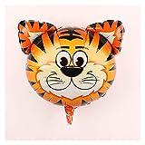 YTNGYTNG Luftballons 1pc Cartoon Tier Serie Thema Aluminium Folie Luftballons Party Hochzeit Geburtstag Partei Luft Inflation Ballon Dekoration Liefert (Farbe : Tiger)