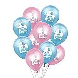 ZHEMAIE Luftballons Elefant Folienballon Rosa Blue Elephant Printed Latex-Ballon for Kinder Geburtstag aufblasbare Kugel-Dekoration (Color : C03)