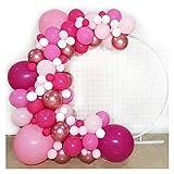 DONGMAISM Luftballon Rosa Ballon Girlande - Metallic Rose Gold Rosa White Latex Ballons - für Barbie Theme Party Girl Geburtstag Baby Dusche Partydekoration (Color : 3)