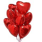 25 Herz Folienballons Rot Helium Luftballon, Romantisch Deko, Dekoration für Romantische Atmosphäre, Heiratsantrag, Valentinstag Deko und Hochzeit