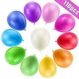 Bunte Luftballons, 110 Stück Bunte Ballons, Luftballons Geburtstag Bunt für Luft & Helium - Farbige Ballons Latex Partyballon für Geburtstag & Kindergeburtstag, 11 Farben