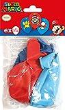 Amscan 9901999 - Latexballons Super Mario Bros, 6 Stück, Luftballons
