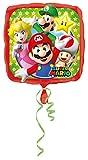 Amscan 3200801 - Standard Folienballon Super Mario Bros, 43 cm, Geburtstag, Dekoration, Heliumballon