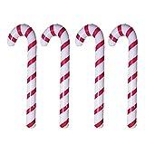 FUFRE Aufblasbare Weihnachtszuckerstange, 4 Stück Aufblasbare Bonbonstäbchen Sind Aus PVC-Material, um Zu Vermeiden, DASS Der Ballon Platzt Oder Ausläuf Für Weihnachten Kostüm Party Zubehör