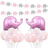 Kreatwow Rosa und Blaue Elefant-Babyparty-Dekorationen