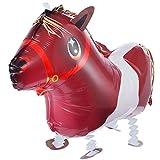 Walking Pets Folienballons Air-Walkers Heliumballons Tierfiguren Helium Luftballons; Pferd Pony Airwalker Ballon mit Leine für Kinder