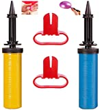 CHANG 2-Pack Ballonpumpe, Luftpumpe, Handpumpe, Luftballonpumpe, Party- Geburtstage-Ballonpumpen, Mit 2 Stück Ballonbindewerkzeug