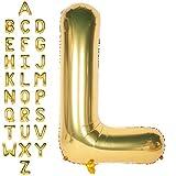 CHANGZHONG Große Mylar Folie Helium Brief Luftballons 40 Zoll Gold Luftballons Alphabet Buchstaben für Geburtstag Brautdusche Jubiläumsdekorationen(Letter L)