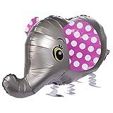 Folienballons Air-Walkers Heliumballons Tierfiguren Helium Luftballons; Elefant Airwalker Ballon mit Leine für Kinder