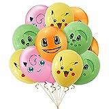 20 Stück Pokemon Ballons Pikachu Themenballons für Pokemon Geburtstag Party Supplies Party Dekorationen
