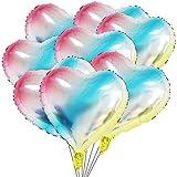 50 Stück Herz Ballons 18 Zoll Heliumballon Herz Folienballon Herzluftballons Helium Luftballons Folienluftballon Geeignet für Hochzeit, Brautdusche, Valentinstag, Geburtstag, Party Deko (Regenbogen)