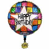Folienballon mit Musik Happy Birthday to you Singing Ballon unbefüllt, ca. 71 cm