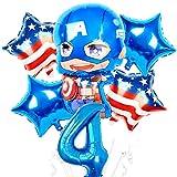 Yanqhua Ballon 1set Folien-Ballone Ballon-Geburtstags-Party-Dekorationen Kinder Spielzeug (Color : Ruby)