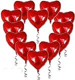 Freudlich Herz Folienballon,30 pcs rot Herzballons für Valentinstag, Hochzeit, Verlobung, Geburtstag, Party Dekoration Dekoration für Romantische Atmosphäre