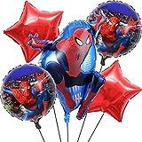 Geburtstagsballons Ballon XXL Folienballon Luftballon Happy Birthday Girlande Geburtstag Deko für Kinder Spider Man Party 5 Stück