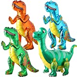 BESTZY 3D Dinosaurier Folienballon, Dinosaurier Ballons Wiederverwendbare Heliumballons, Folien Ballons für Kinder Geburtstag Dinosaurier Party (4 Stücke)