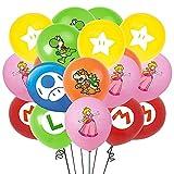 CYSJ 42 PCS Super Mario Folienballons, Kindergeburtstag Deko Mario Bros Brüder Geburtstag Dekoration Luftballons Set, Super Mario Ballons für Mädchen Jungen