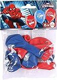 Amscan 999233 - Latexballons Spider Man, 6 Stück, Luftballons