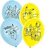 Amscan 9904826 - Latexballons Pokémon, 6 Stück, Luftballons