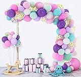 168 Stück Rosa Lila Blau Luftballons Girlande Set Einhorn Arch Kit Latex Metallic Konfetti Ballons Mädchen Dame Hochzeit Hintergrund Kindergeburtstag Baby Dusche Dekoratio