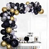Luftballons Girlande Schwarz Gold,90 Stück Latex Pink Luftballons Folienballons Metallic konfetti Ballons Arch Kit Für Geburtstag Dekorationen Hochzeit Party Supplies