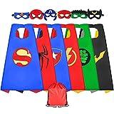 Sinoeem Superhelden Kostüm Kinder 6 Stücke Kostüm mit Maske Spielzeug ab 3-12 Jahren Mädchen Kinderkleidung Geschenke für Kindergeburtstag, Halloween oder Karneva (6 Stücke)