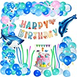 FORMIZON Party Ballons im Ozean, 108 Pcs Kindergeburtstag Deko Folienballon, Meerestier Ballons, Banner Folienballons, für Unter dem Meer Thema Party Baby Shower Geburtstagsfeier Lieferungen