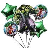 Packung 5 Ballons Superhero Miotlsy-Superhero Latex Ballons mit Bändern Geburtstag Party Dekoration Karneval für Partys und Geburtstage. Ideal,um Ihre Partys zu schmücken