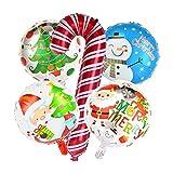 YONGYONGMY Luftballons 5pcs Weihnachten Krücken Folienballons Set Weihnachten Ballon Weihnachtsdekorationen Weihnachtskinder Aufblasbare Spielzeug (Color : Christmas Crutches)