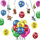 SUNSK Luftballon Hund Geburtstag Dekoration Dog Kindergeburtstag Ballon Bunte Luftballon XXL Hängedekoration Deckenhänger Spiral Girlanden
