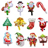 Lostwry12PpcsWeihnachtenBallonsKit,FolienballonWeihnachtenLuftballons Weihnachtsdeko AluminiumfolieBallonsWeihnachtsballonsfürGeburtstagXmasWeihnachtenPartyDeko