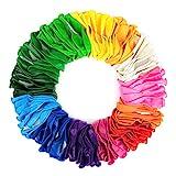 Marex Luftballons bunt [100 Stück] in 13 wundervollen Farben für Geburtstag , Party & Deko - langlebige Premium Ballons für Luft & Helium - Luftballon für Kindergeburtstag & Party Deko
