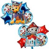 Paw Dog Patrol Luftballon Geburtstag 0 Jahre alt Geburtstagsdekoration Kinder Party Dekoration, Riesen Folienballon, Geburtstag Ballons für Junge Mädchen Babyparty Dekoration 10 Stück