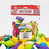 30 Luftballons 25cm bunt, für Hochzeit und Party,Silvester, Karneval, Bunt Mehrfarbig, Latexballons, Heliumballons