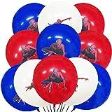 Spiderhero Party BallonsYUESEN Geburtstag Ballons 24PCS Cartoon Anime Filmfiguren 12 Zoll Latex Ballons Mit 2 Spulen für Kindergeburtstag DekoThema Jungen