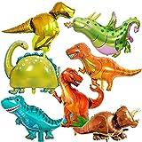 Hilloly Dinosaurier Luftballons, 14 Stück Dinosaurier Folienballons, Dinosaurier Ballon Dekoration Tier Folienballon Kinder Geburtstagsfeier Folienballon für Jungle Stil Party