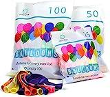 Green Paw Products Luftballons Bunt 100% Reiner NATURLATEX Premium Qualität Perfekten Dekorationen für Geburtstage, Babyparties, Hochzeiten und Taufen.