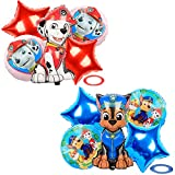 Tomicy Ballon Folienballon Luftballon Paw Patrol Hund Kindergeburtstag Deko Paw Patrol Geburtstag Fellfreunde Luftballons Dekoration Set Happy Birthday Deko-Luftballon Balloons 10 Stück