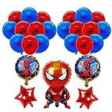 smileh Deko Geburtstag Spider Man Luftballons Spiderman Geburtstag Aluminiumfolienballons für Kinder Geburtstagsfeier Dekorationen