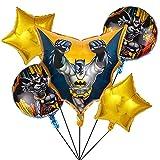 5pcs Superhero Ballons Deko - simyron Superhero Helium Ballon, Folienballon Batman Heliumballon Geburtstag Party Dekoration, für Partys und Geburtstage Ideal, um Ihre Partys zu schmücken