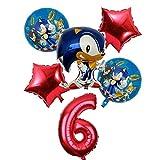 Yanqhua Ballon 6pcs / Lot 32inch Anzahl Folienballon Junge Mädchen Geburtstag Dekoration Luftballons (Color : 6)