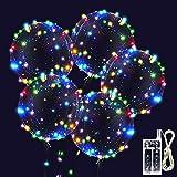 10 Stück LED Ballons Leuchtende Luftballons, 20 Zoll LED Bunte Bobo Helium Luftballons für Hochzeit, Party, Geburtstage, Weihnachten, Feste Dekoration