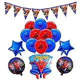smileh Deko Geburtstag Spider Man Luftballons Girlande Spiderman Kindergeburtstag Ballons Geburtstag Banner für Kinder Geburtstagsfeier Dekorationen