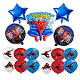 smileh Deko Geburtstag Spider Man Luftballons 17 Stück Spiderman Ballon Deko für Kindergeburtstag Party Dekorationen