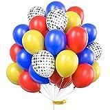 PartyWoo Paw Patrol Luftballon, 70 Stück Luftballon Gelb, Blau Luftballons, Rote Ballons und Paw Ballon, Luftballons Gelb Rot Blau, Paw Patrol Ballons für Paw Patrol Party, Paw Patrol Geburtstagsparty